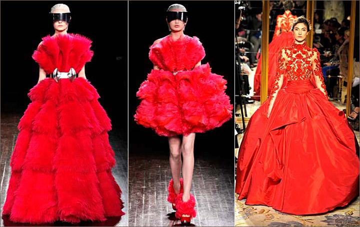 Красно-золотое платье