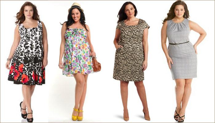 Летние платья на полненьких девушек