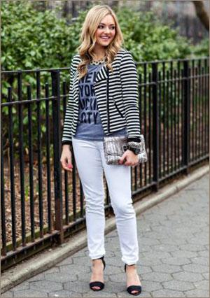 Белые трусики под белыми джинсами