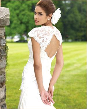Идеальное свадебное платье для любого типа фигуры. Кружевное свадебное платье с открытой спиной