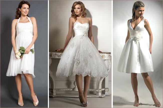Кто сказал, что невеста обязана надеть длинное белое платье? В современной моде возможно практически все вплоть до мини-вариантов