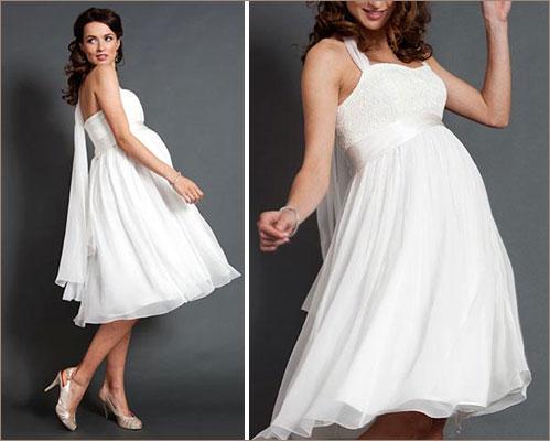 Свадебное платье для беременной, большой живот